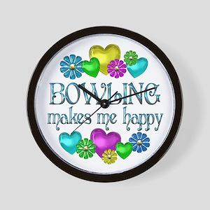 Bowling Happiness Wall Clock