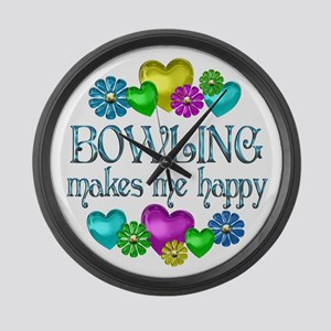 Bowling Happiness Large Wall Clock