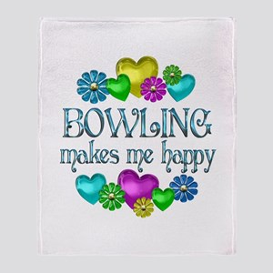 Bowling Happiness Throw Blanket