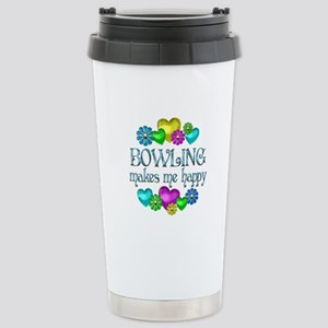 Bowling Happiness Stainless Steel Travel Mug