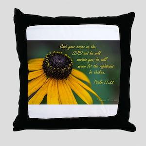Cast your cares Throw Pillow
