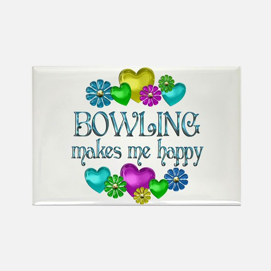 Bowling Happiness Rectangle Magnet