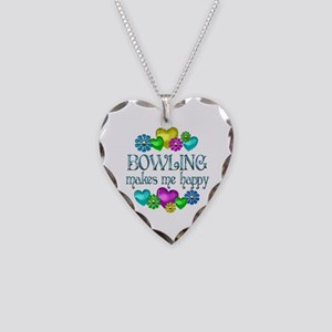 Bowling Happiness Necklace Heart Charm