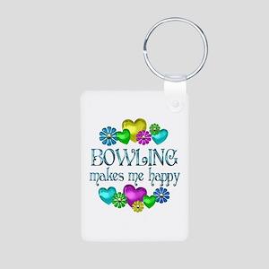 Bowling Happiness Aluminum Photo Keychain
