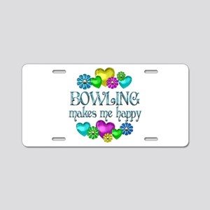 Bowling Happiness Aluminum License Plate