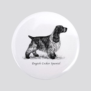 "English Cocker Spaniel 3.5"" Button"