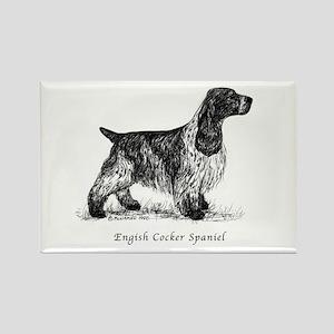 English Cocker Spaniel Rectangle Magnet