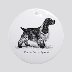 English Cocker Spaniel Ornament (Round)