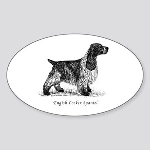 English Cocker Spaniel Sticker (Oval)