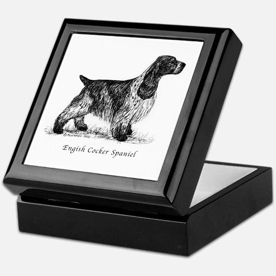 English Cocker Spaniel Keepsake Box