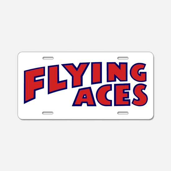 Flying Aces Club Aluminum License Plate