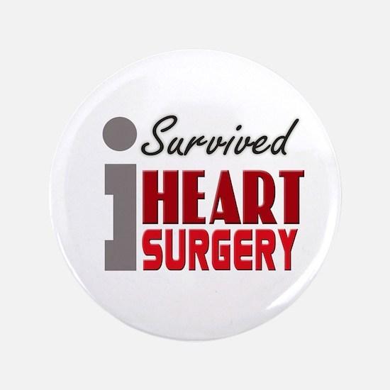 """Heart Surgery Survivor 3.5"""" Button"""