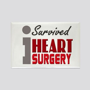 Heart Surgery Survivor Rectangle Magnet