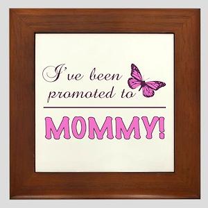 Promoted To Mommy Framed Tile