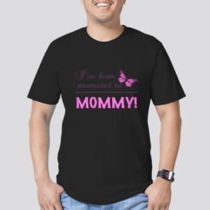 Promoted To Mommy Men's Fitted T-Shirt (dark)