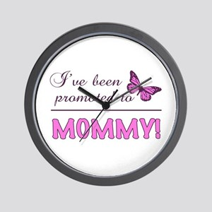 Promoted To Mommy Wall Clock