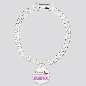 Promoted To Grandma Charm Bracelet, One Charm