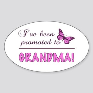 Promoted To Grandma Sticker (Oval)