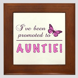 Promoted To Auntie Framed Tile