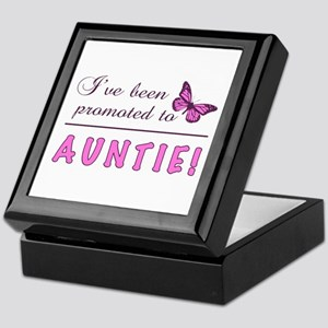Promoted To Auntie Keepsake Box