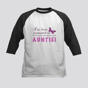 Promoted To Auntie Kids Baseball Jersey