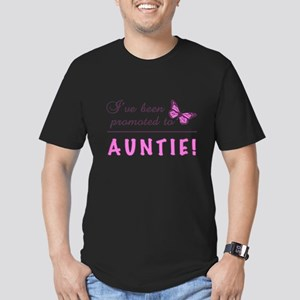 Promoted To Auntie Men's Fitted T-Shirt (dark)