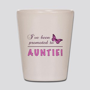 Promoted To Auntie Shot Glass