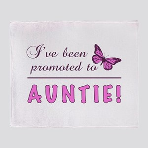 Promoted To Auntie Throw Blanket