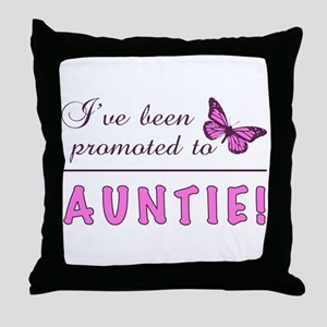 Promoted To Auntie Throw Pillow