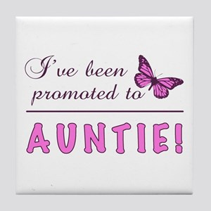 Promoted To Auntie Tile Coaster