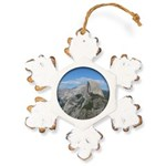 Half Dome Rustic Snowflake Ornament
