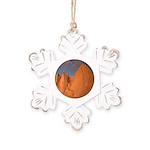 Mt. Whitney Rustic Snowflake Ornament