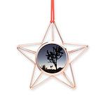 Jtree Twilight Copper Star Ornament