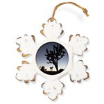 Jtree Twilight Rustic Snowflake Ornament