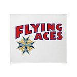 Flying Aces Club Throw Blanket