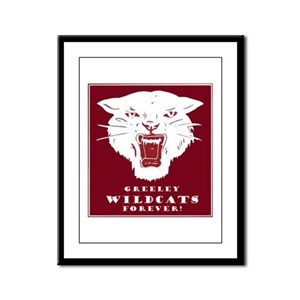 Greeley Wildcats Forever! Framed Panel Print