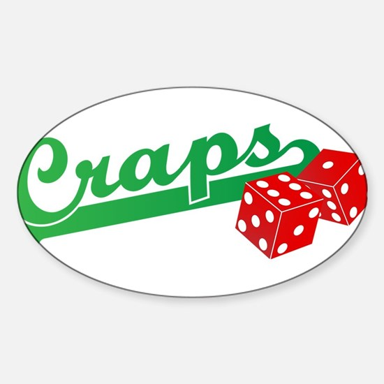 I Love Craps Sticker (Oval)