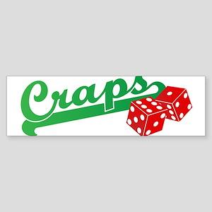 I Love Craps Sticker (Bumper)