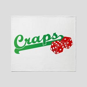 I Love Craps Throw Blanket