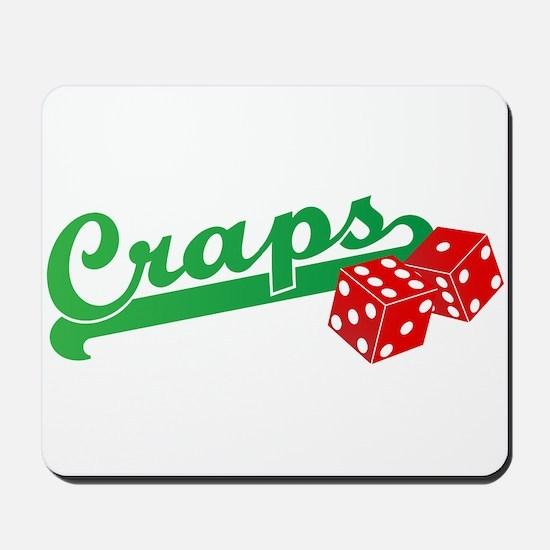 I Love Craps Mousepad