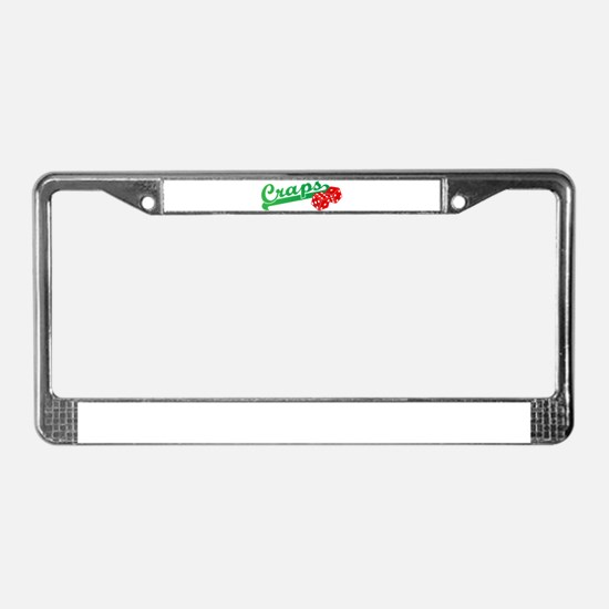 I Love Craps License Plate Frame