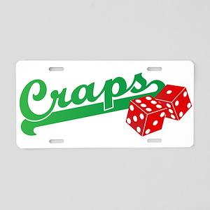 I Love Craps Aluminum License Plate
