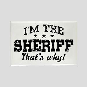 Sheriff Rectangle Magnet