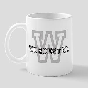 Letter W: Worcester Mug