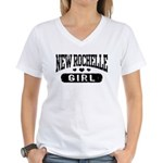 New Rochelle Girl Women's V-Neck T-Shirt