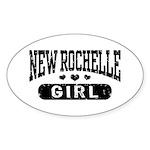 New Rochelle Girl Sticker (Oval)