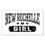 New Rochelle Girl Sticker (Rectangle)