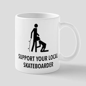 support your local skateboard Mug