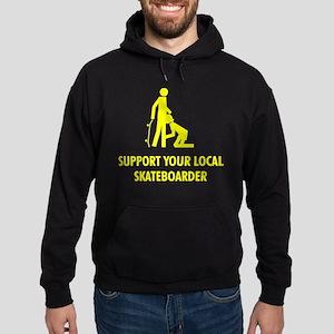 support your local skateboard Hoodie (dark)