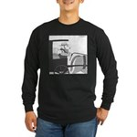 Llamish (no text) Long Sleeve Dark T-Shirt